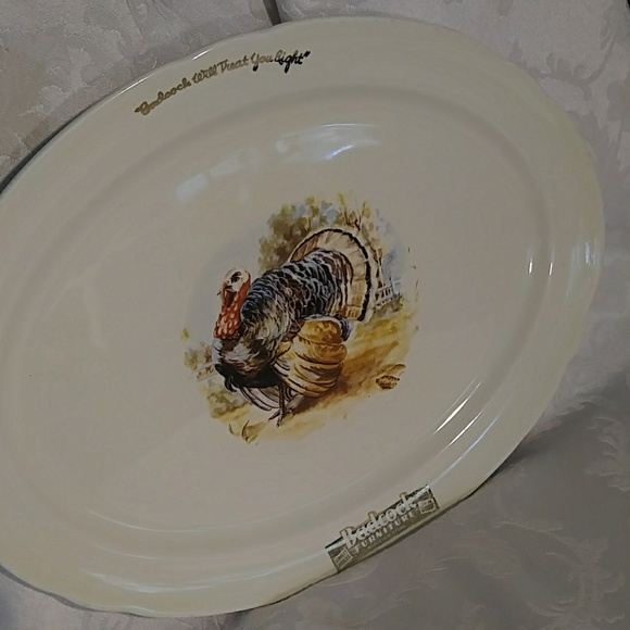 Badcock Advertising Other - Vintage Badcock Advertising Small Turkey Platter